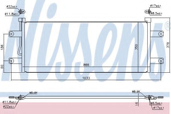 Радиатор кондиционера NISSENS 940264