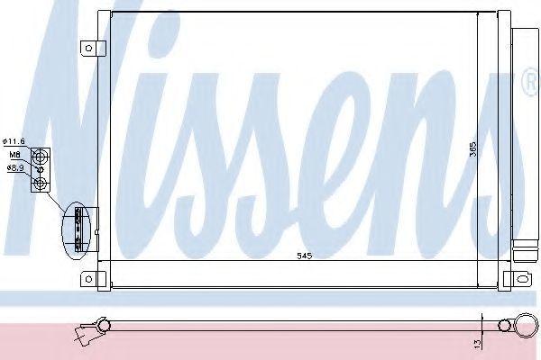 Радиатор кондиционера NISSENS 940280