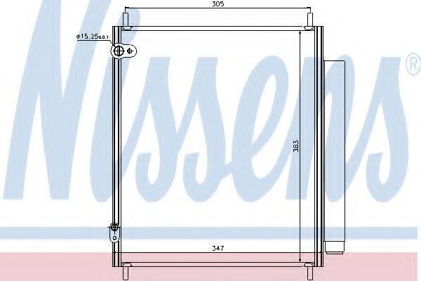 Радиатор кондиционера NISSENS 940284