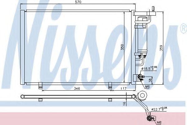 Радиатор кондиционера NISSENS 940286