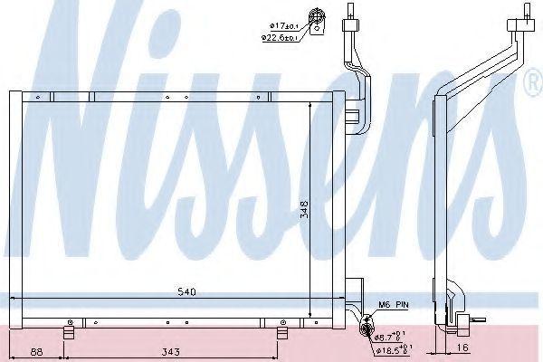 Радиатор кондиционера NISSENS 940287