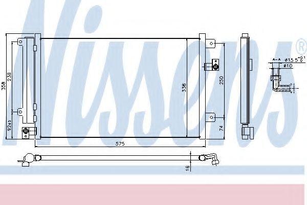 Радиатор кондиционера NISSENS 940292