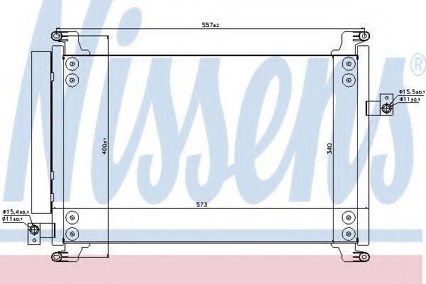 Радиатор кондиционера NISSENS 940310