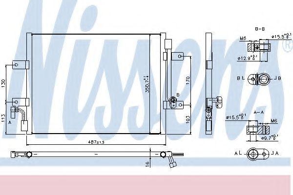 Радиатор кондиционера NISSENS 940311
