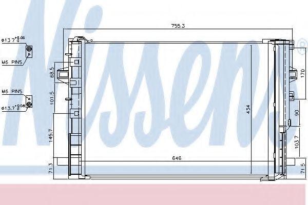 Радиатор кондиционера NISSENS 940322