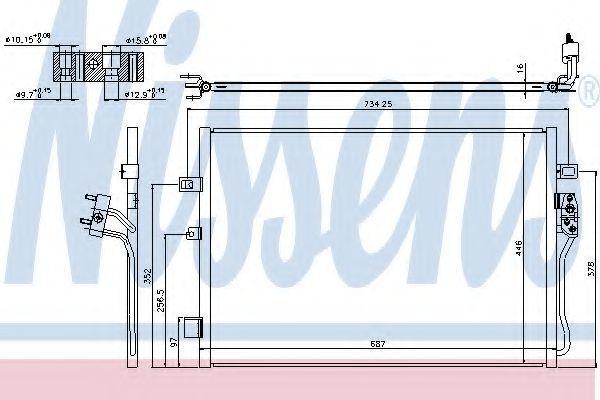 Радиатор кондиционера NISSENS 940342