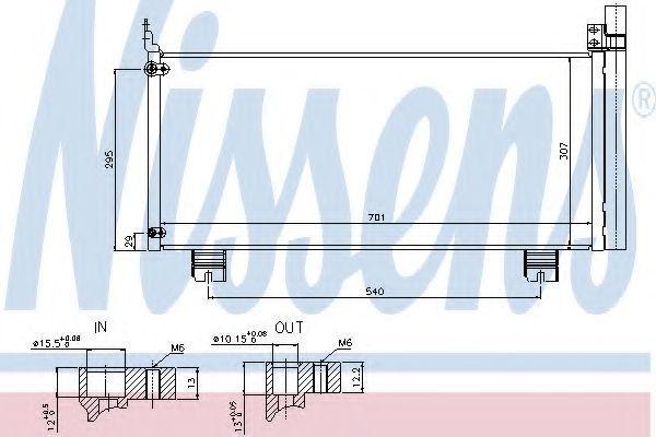 Радиатор кондиционера NISSENS 940344
