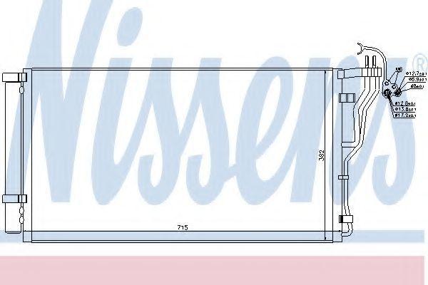 Радиатор кондиционера NISSENS 940347