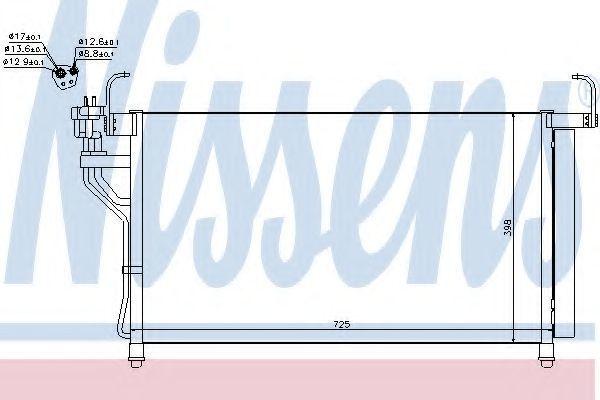 Радиатор кондиционера NISSENS 940350
