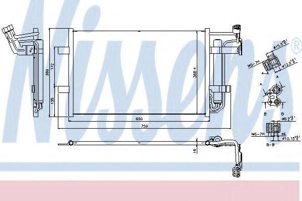 Радиатор кондиционера NISSENS 940355