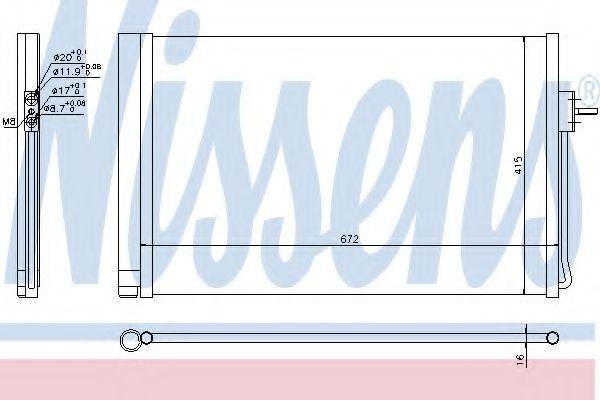 Радиатор кондиционера NISSENS 940364