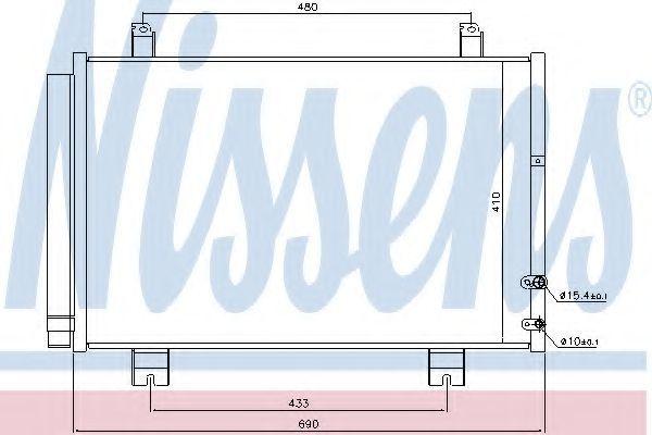 Радиатор кондиционера NISSENS 940365