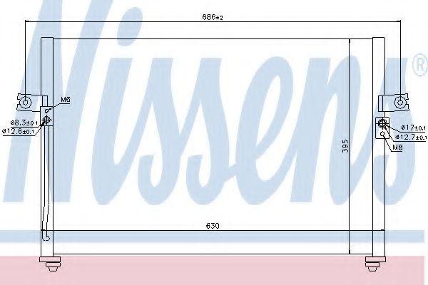 Радиатор кондиционера NISSENS 94038