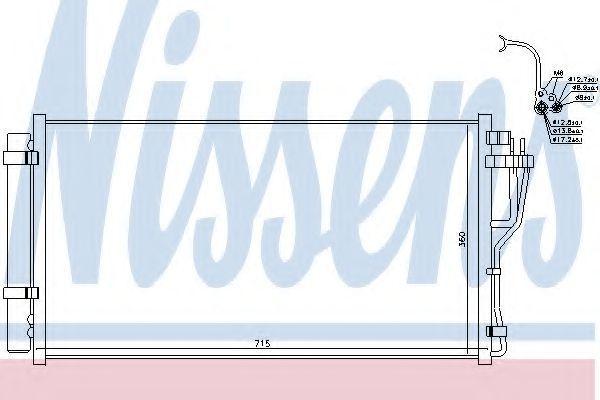 Радиатор кондиционера NISSENS 940383