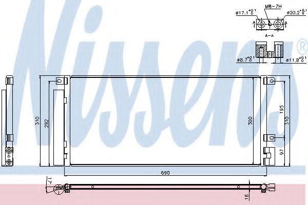 Радиатор кондиционера NISSENS 940388