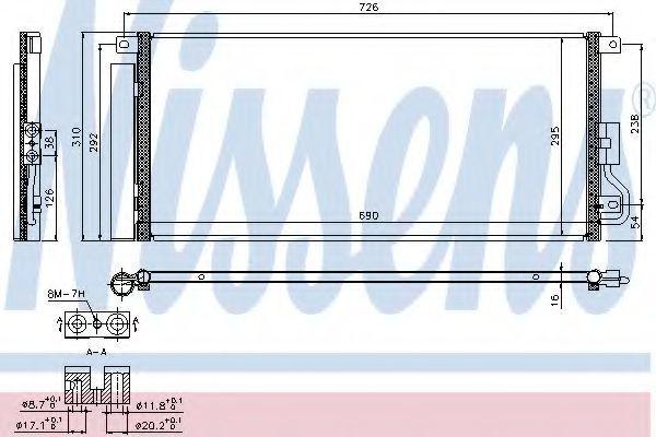 Радиатор кондиционера NISSENS 940390