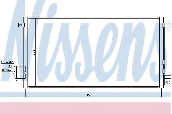 Радиатор кондиционера NISSENS 940395