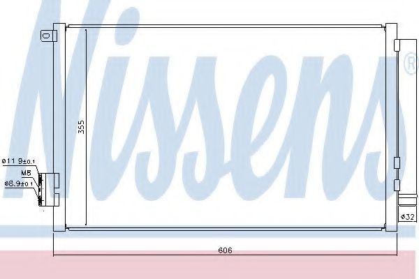 Радиатор кондиционера NISSENS 940396