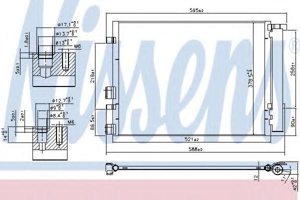 Радиатор кондиционера NISSENS 940404