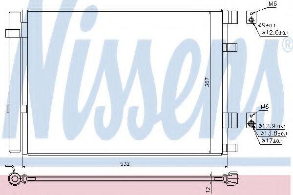 Радиатор кондиционера NISSENS 940425