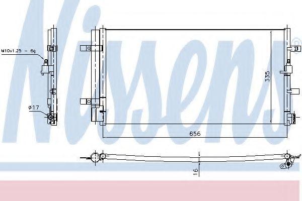 Радиатор кондиционера NISSENS 940430