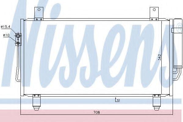 Радиатор кондиционера NISSENS 940435