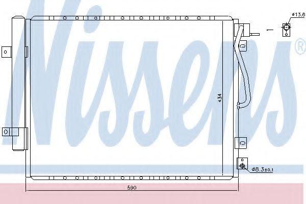 Радиатор кондиционера NISSENS 940436