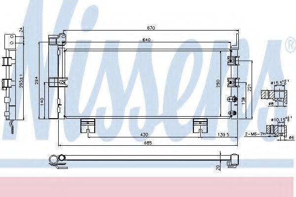 Радиатор кондиционера NISSENS 940450