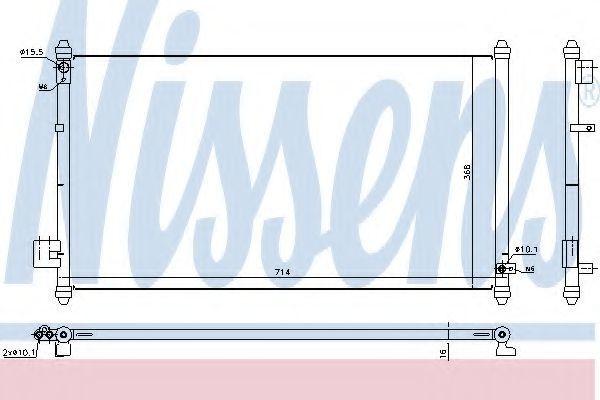 Радиатор кондиционера NISSENS 940502