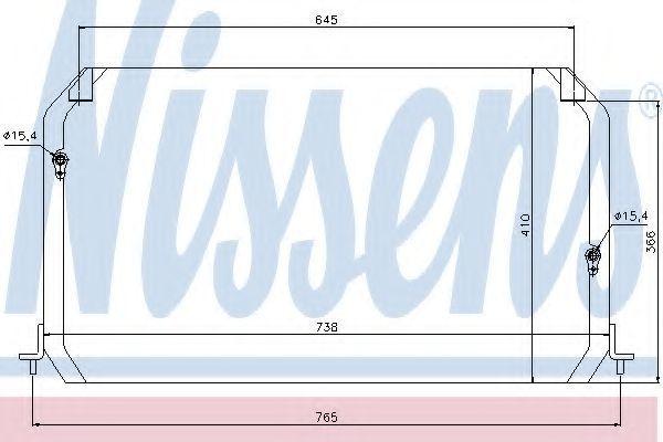 Радиатор кондиционера NISSENS 94056