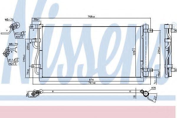 Радиатор кондиционера NISSENS 940569