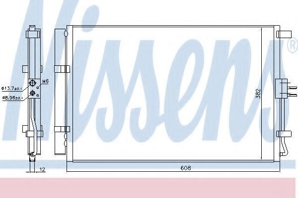 Радиатор кондиционера NISSENS 940573