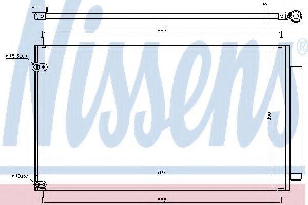 Радиатор кондиционера NISSENS 940609