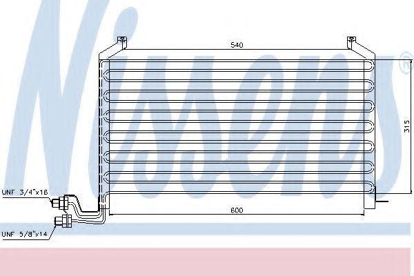 Радиатор кондиционера NISSENS 94088