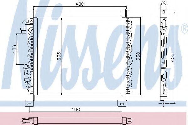 Радиатор кондиционера NISSENS 94093