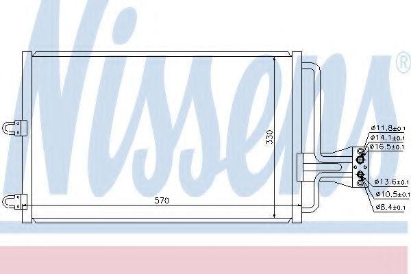 Радиатор кондиционера NISSENS 94100