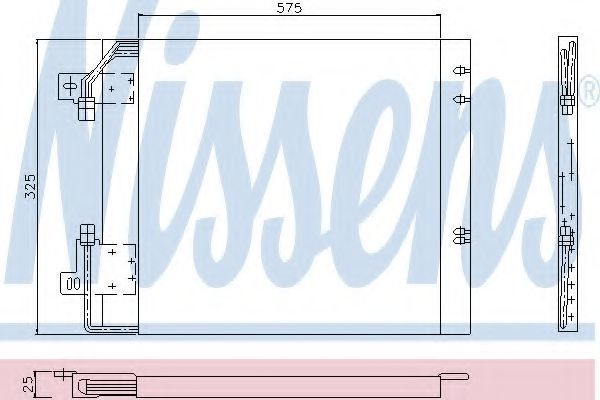 Радиатор кондиционера NISSENS 94114