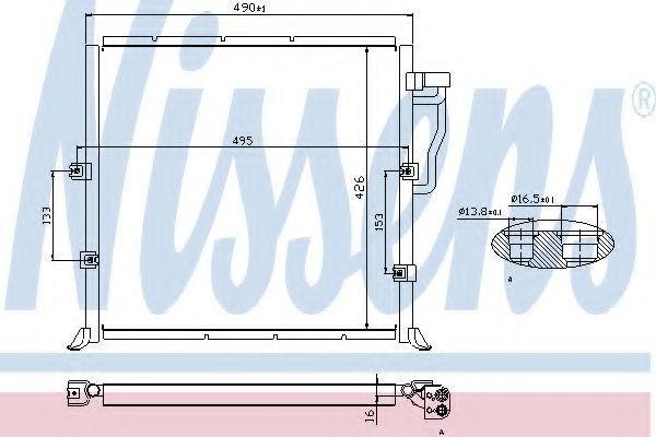 Радиатор кондиционера NISSENS 94157