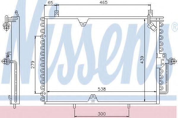 Радиатор кондиционера NISSENS 94162