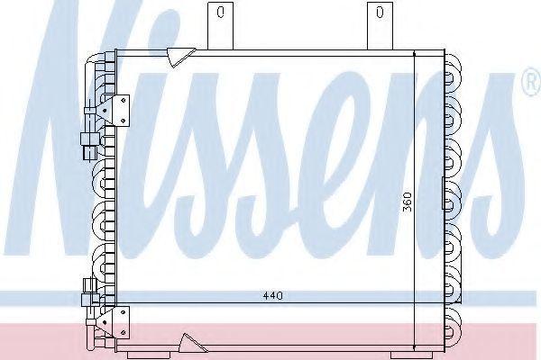 Радиатор кондиционера NISSENS 94172