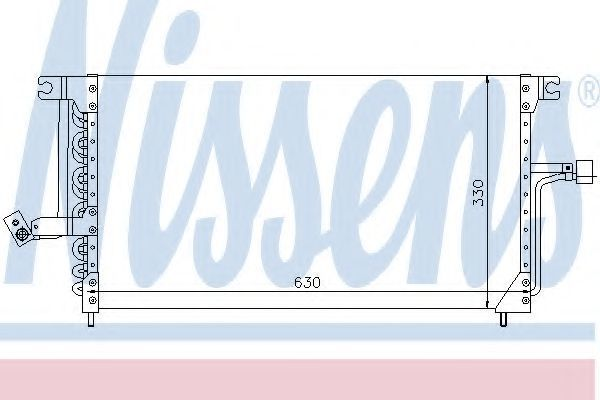 Радиатор кондиционера NISSENS 94183