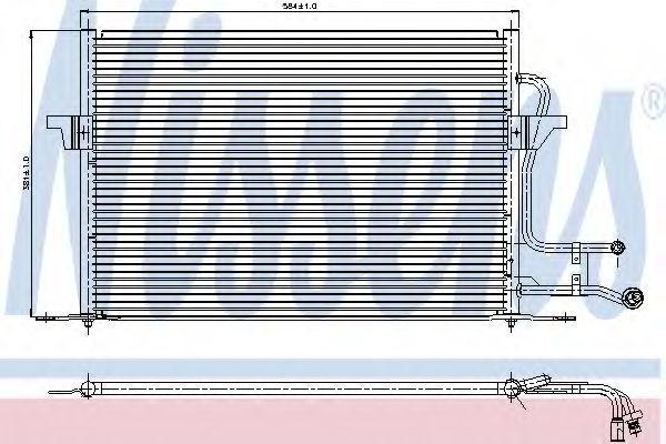 Радиатор кондиционера NISSENS 94189