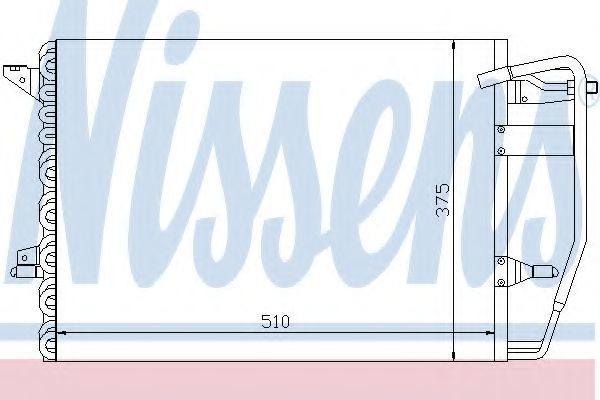 Радиатор кондиционера NISSENS 94192