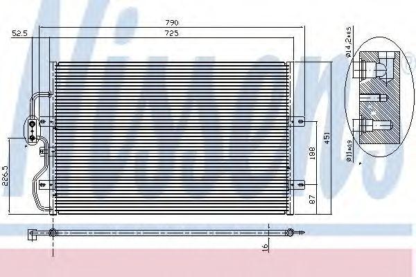Радиатор кондиционера NISSENS 94210