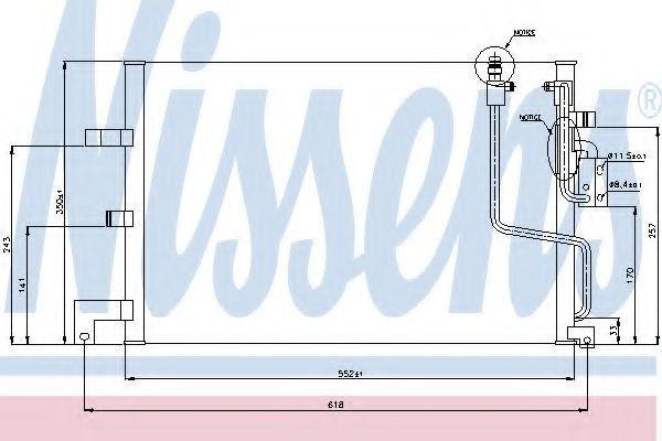 Радиатор кондиционера NISSENS 94259