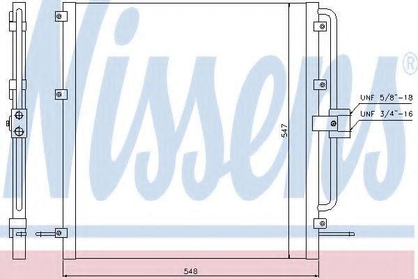 Радиатор кондиционера NISSENS 94257
