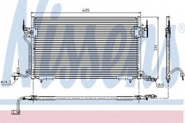 Радиатор кондиционера NISSENS 94200