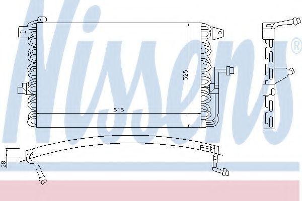 Радиатор кондиционера NISSENS 94205