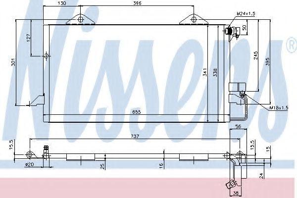 Радиатор кондиционера NISSENS 94206