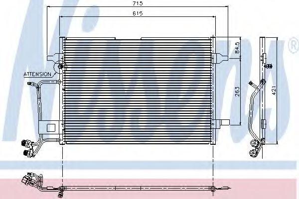 Радиатор кондиционера NISSENS 94207
